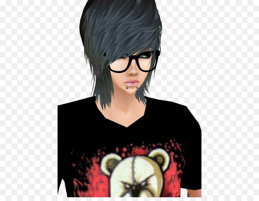 IMVU Avatar Blog Bangs Emo - avatar png download - 500*687