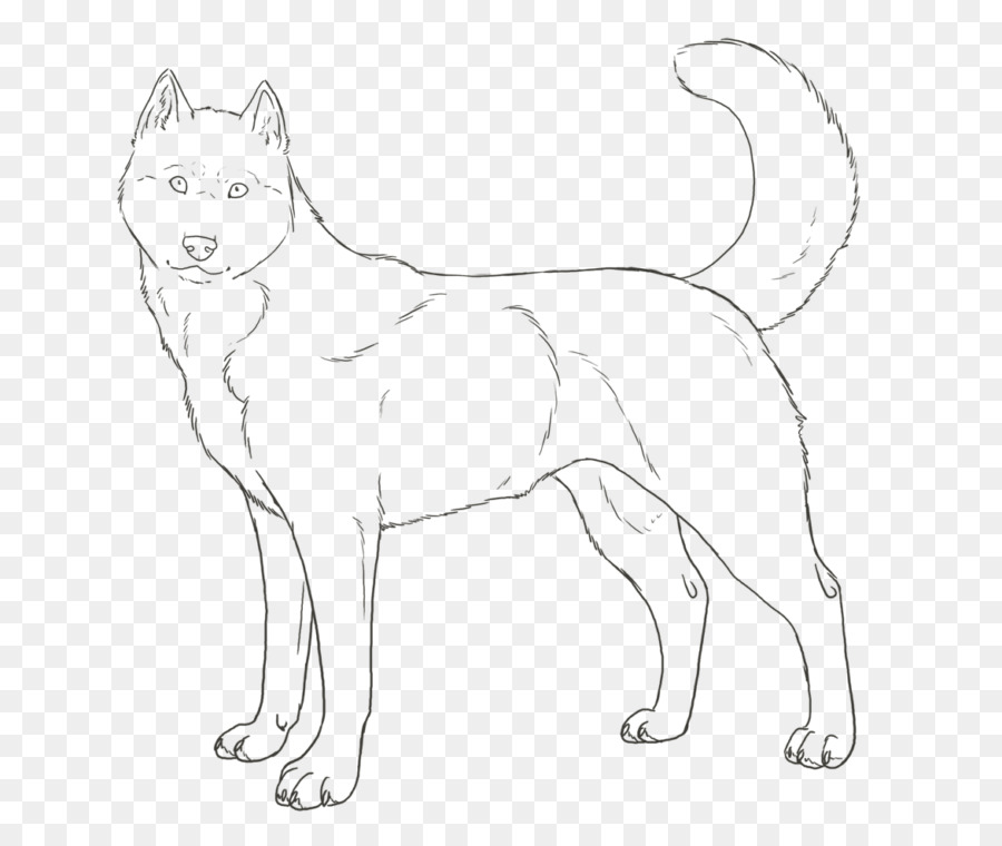 Siberian Husky Puppy Colouring Pages Coloring book - puppy png ...