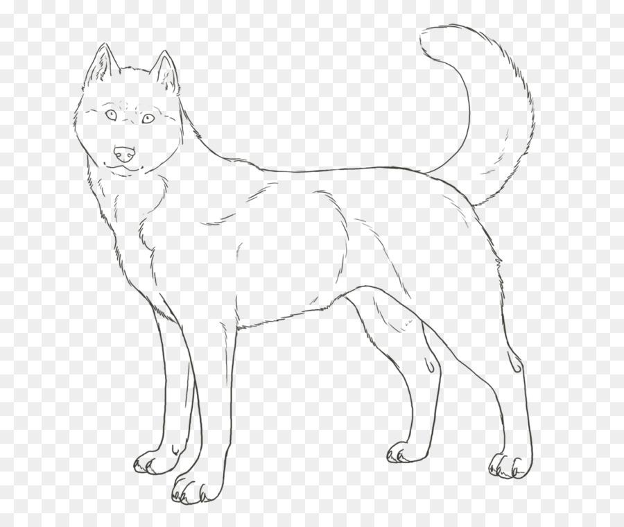 Husky siberiano Cachorro Páginas para Colorear para Colorear libro ...