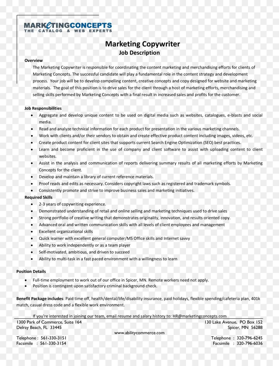 How To Write Job Descriptions Document Template Marketing
