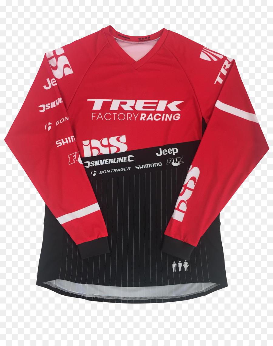 Jersey T-shirt Trek Factory Racing Downhill mountain biking Team - T-shirt  png download - 2600 3264 - Free Transparent Jersey png Download. a8ff39cf5