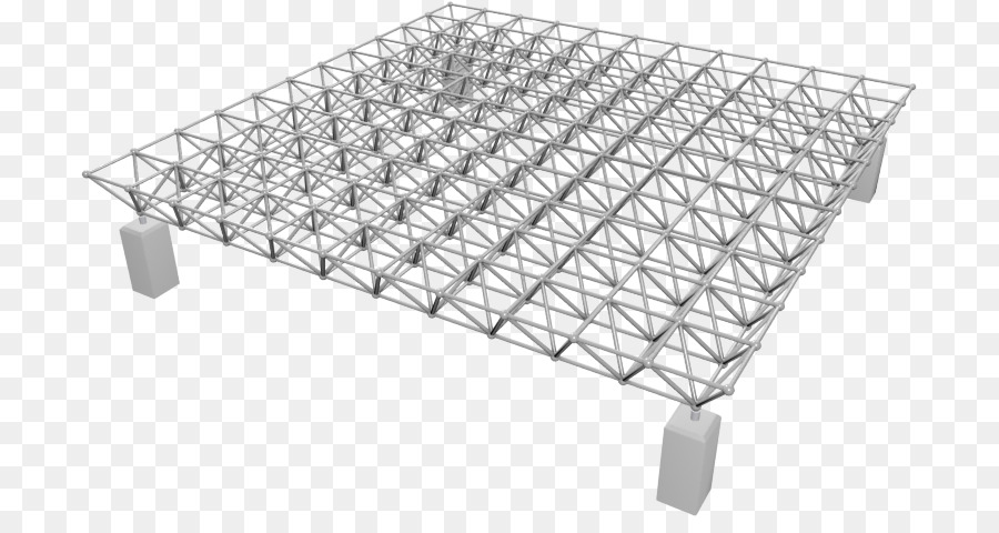 Space frame Structure Truss Framing Architecture - double layer png ...