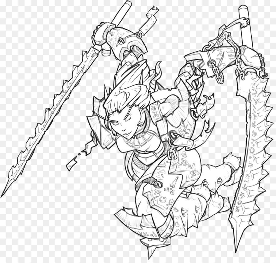 World Of Warcraft Line Art Warhammer 40000 Drawing Fantasy Battle