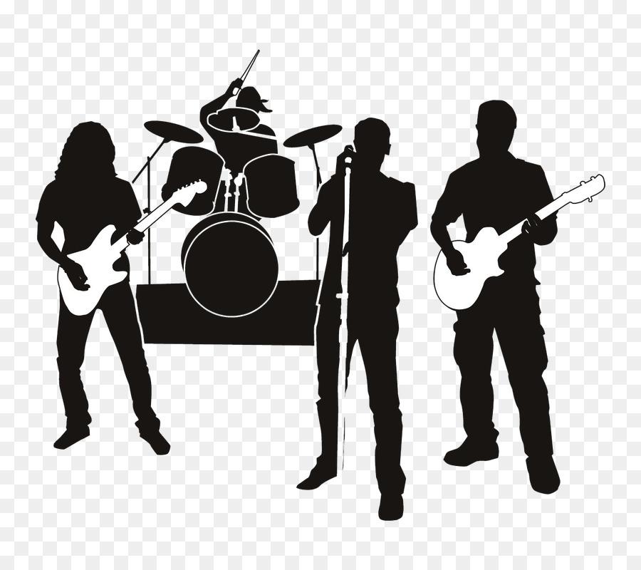Rock Band Clip art Musical ensemble Silhouette Vector ...
