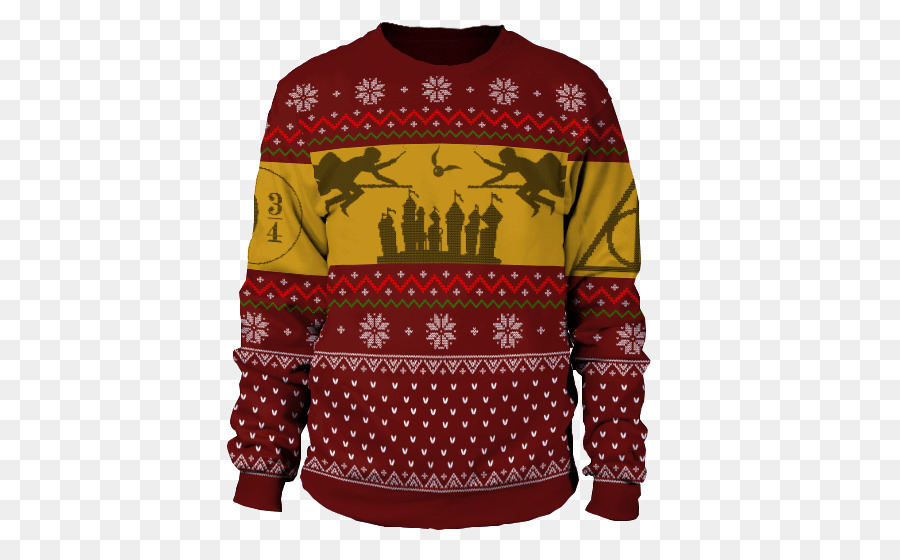 T-shirt Christmas jumper Sleeve Sweaters for Men - harry potter ugly ...