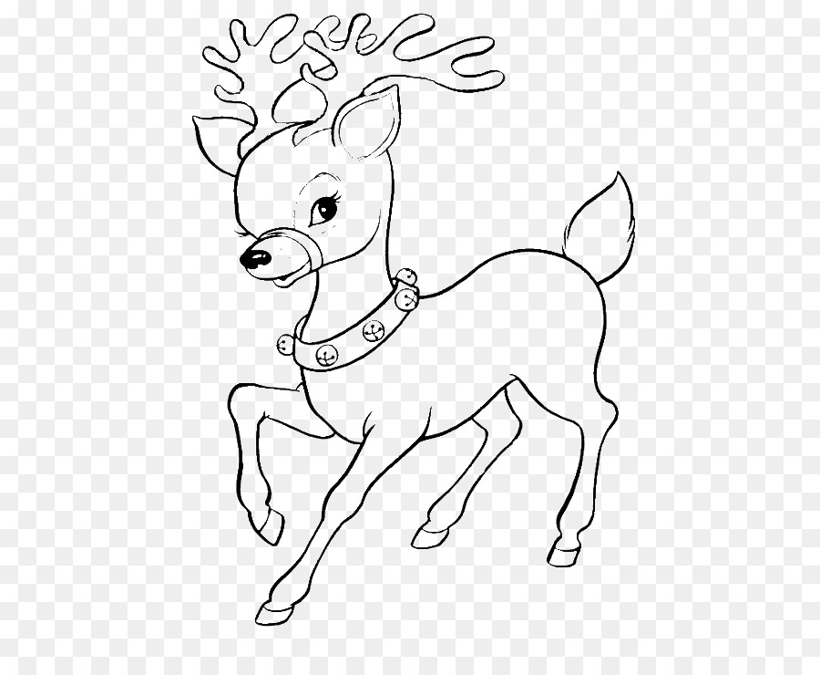 Reindeer Rudolph Coloring book Santa Claus Christmas Coloring Pages ...