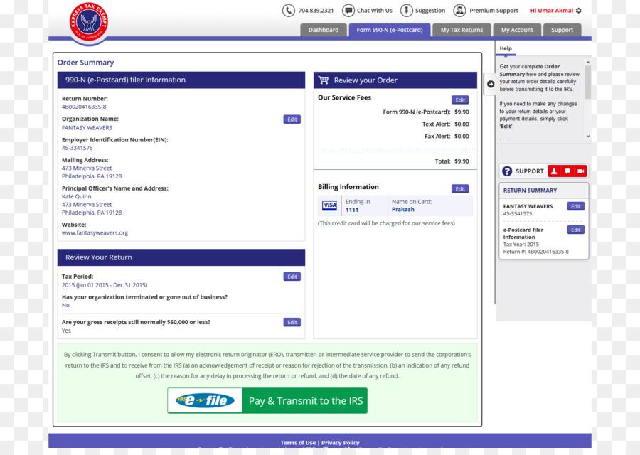 Internal Revenue Service Form 990 Paper IRS e-file - exempts png
