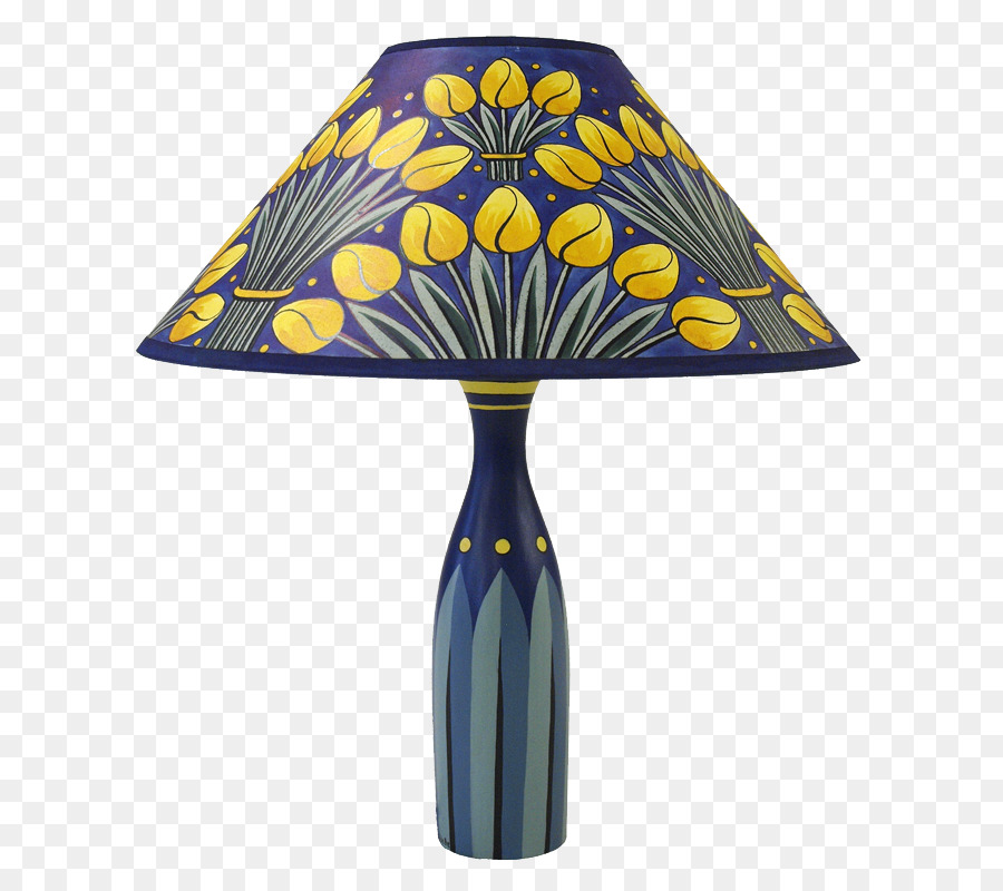 Cobalt Blue Lamp Shades Hand Painted Paper Png 685 800 Free Transpa