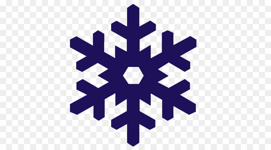 Snowflake vector. Silhouette png download free