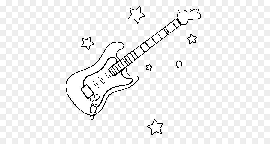Instrumentos musicales Dibujo de Guitarra para Colorear libro ...