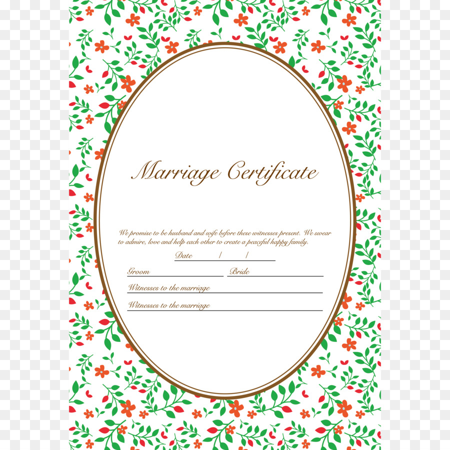 Party Supply Illustration Marriage certificate Template - marriage ...