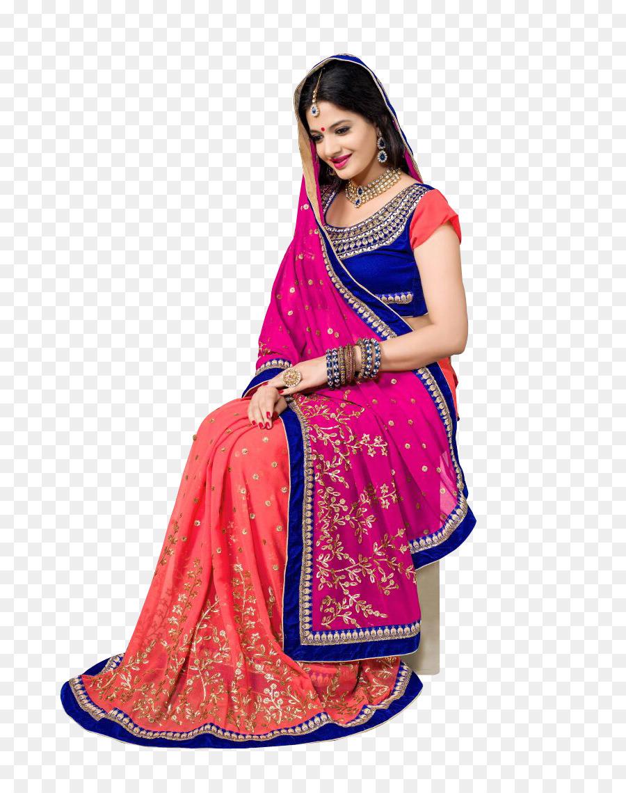 Sari Lehenga estilo sari Fathima Colección de Vestido de color Rosa ...