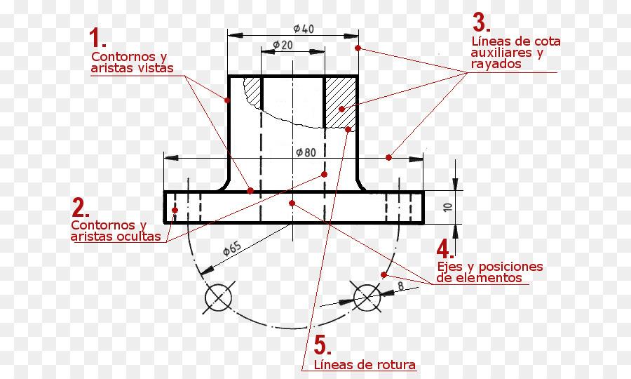 Dibujo técnico dibujo de Ingeniería Diagrama de Diseño - las líneas ...