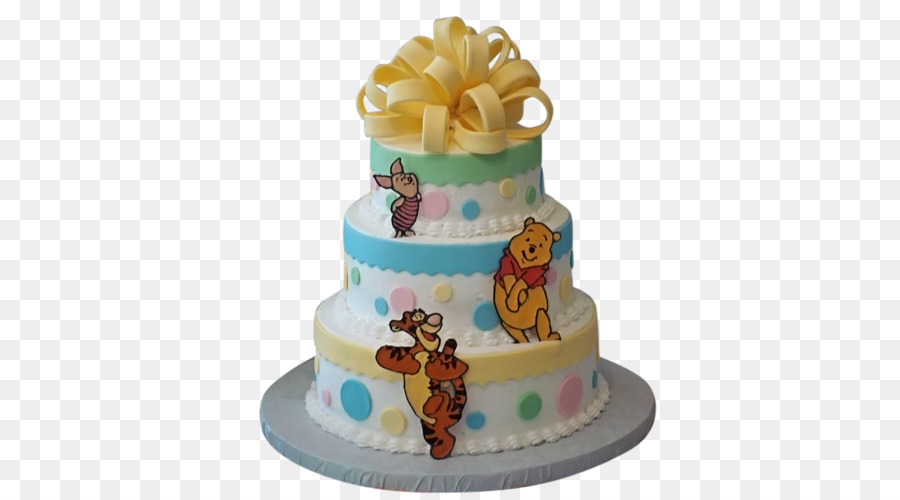 Winnie The Pooh Baby Shower Diaper Cake Infant Party Cake Delivery
