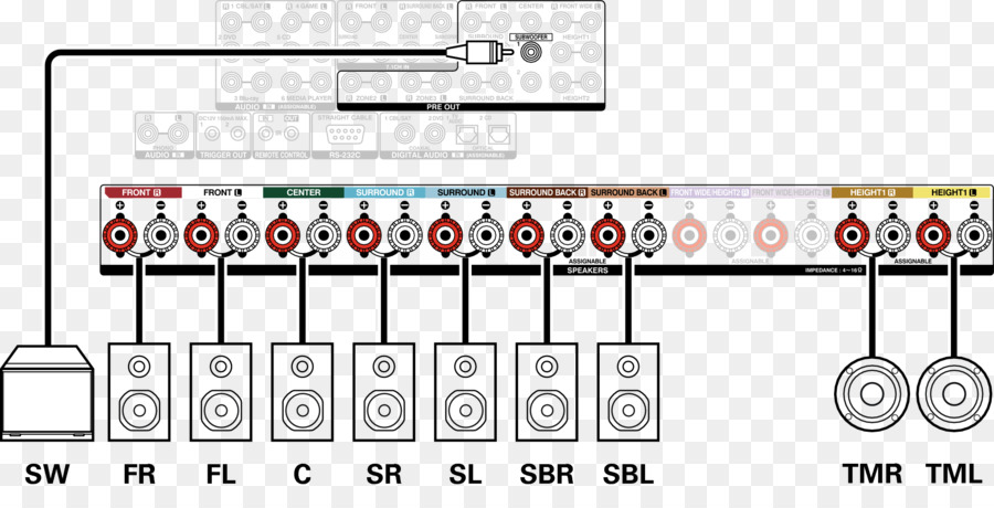 wiring diagram loudspeaker surround sound electrical wires \u0026 cable 2011 Jeep Patriot Wiring Diagram Free Download wiring diagram, loudspeaker, surround sound, text, technology png
