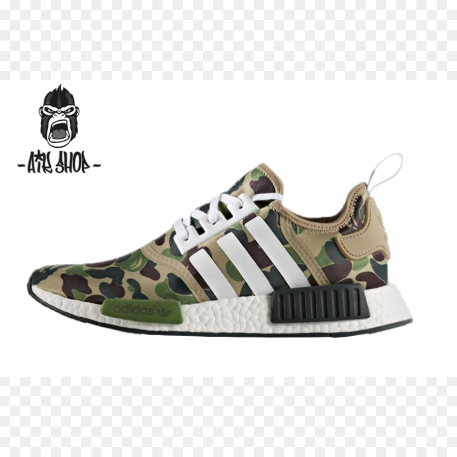 396203739 Bape x NMD R1 Adidas Sneakers Shoe Boost - adidas png download - 1000 1000  - Free Transparent Bape X Nmd R1 png Download.
