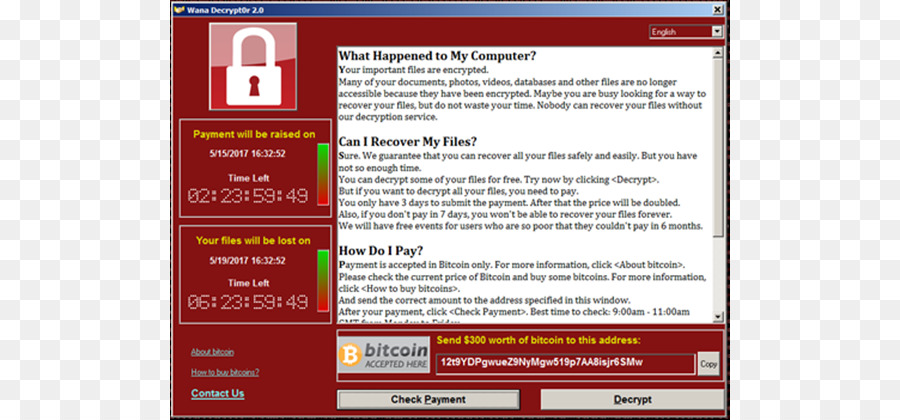 Wannacry Ransomware Attack Text png download - 840*420 - Free
