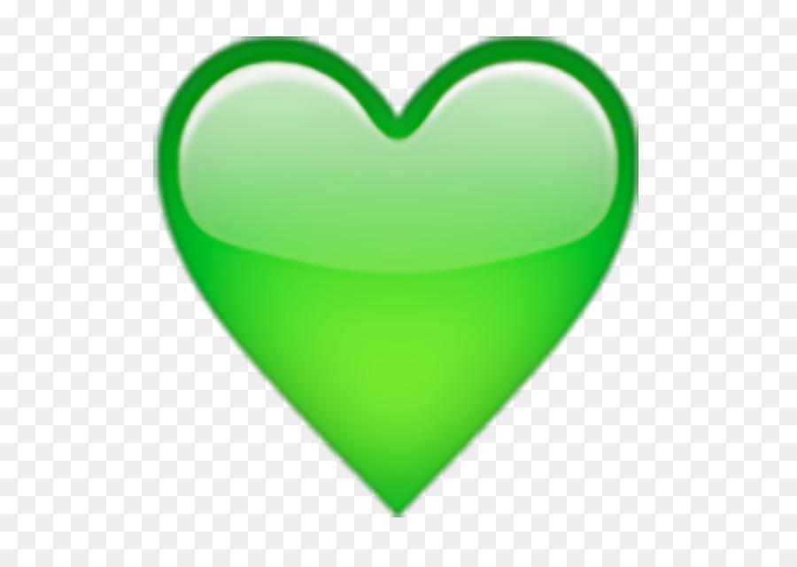 Heart Symbol Green Emoji Emoticon Green Trees Png Download 625