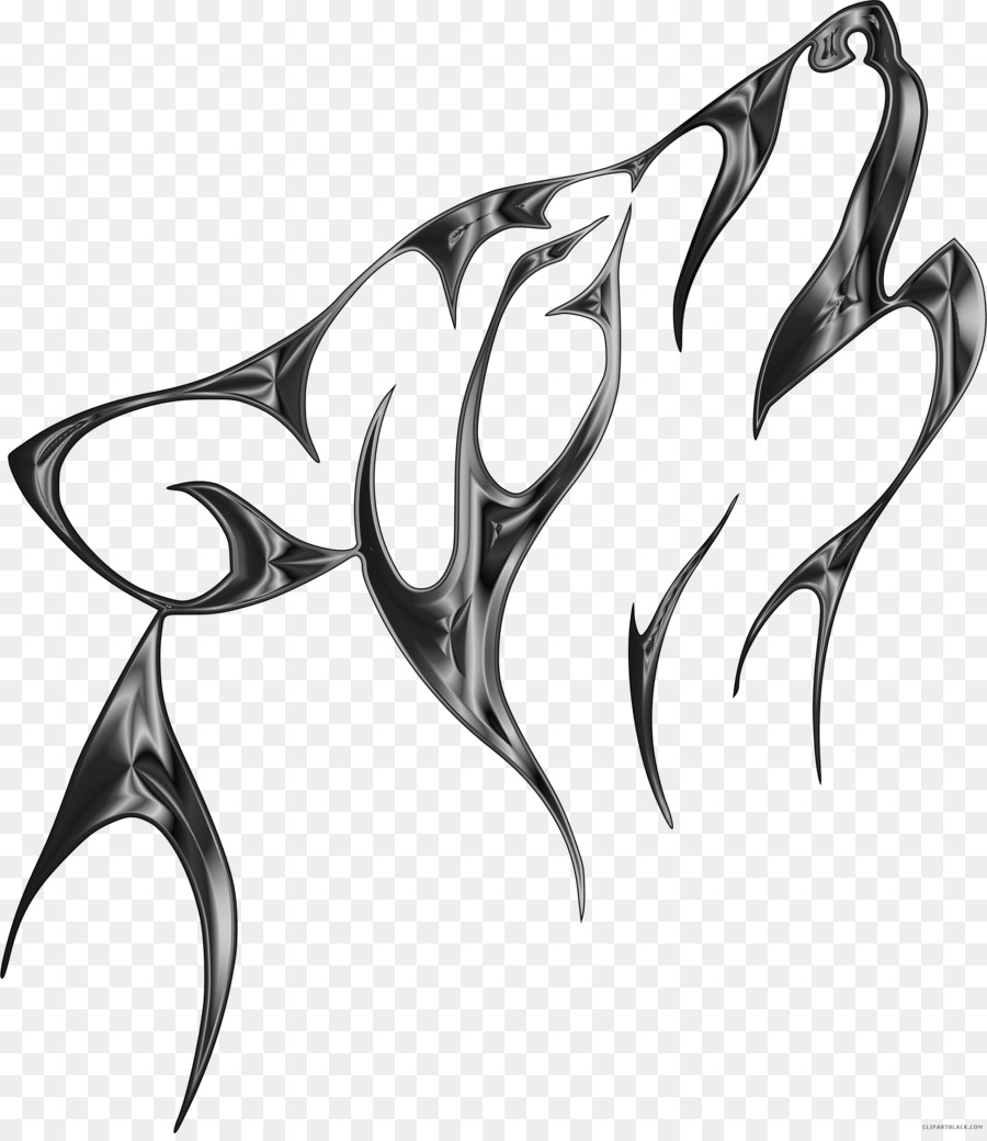 Gray Wolf Tattoo Art Design Clip Art Drawing Black And White