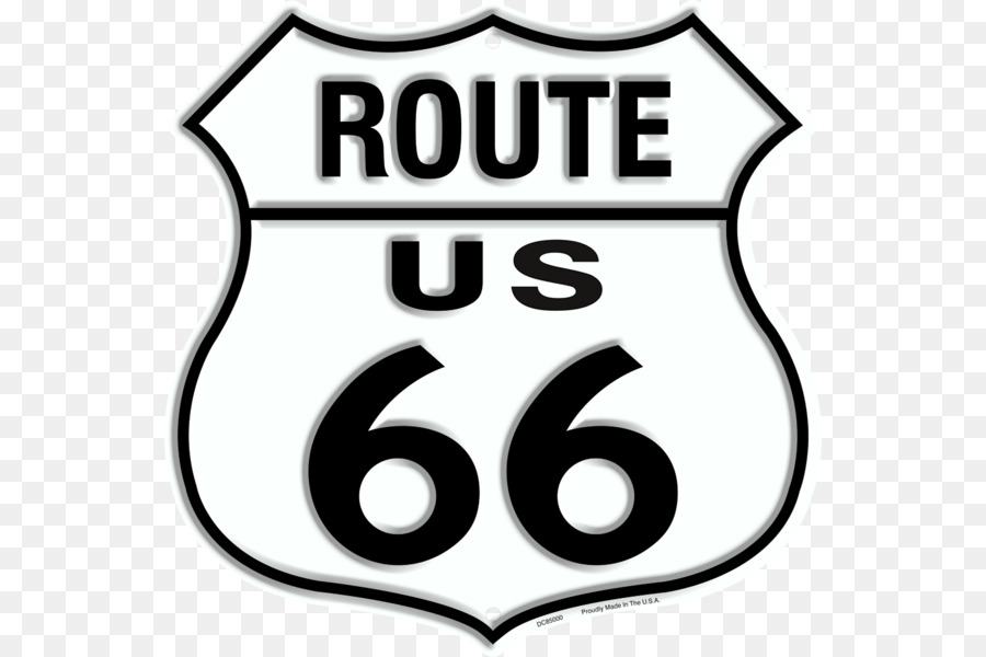 Us Route 66 Clip Art Road Brand Logo Logo Route 66 Png Download