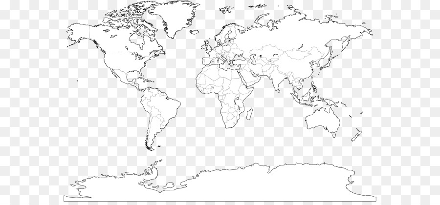 World map World Political Map Globe Outline Maps - world map png ...