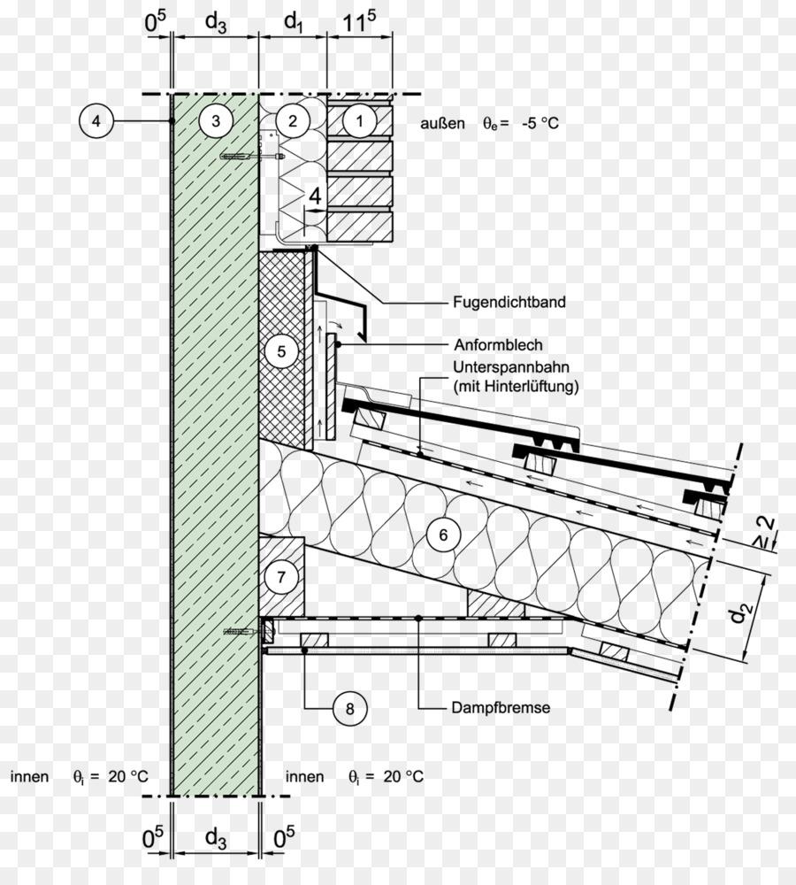 Flat roof wall pfettendach masonry veneer rollup bundle