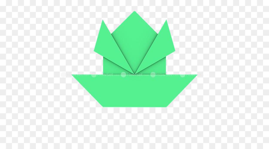 Grafis Kertas Origami Segitiga Desain Produk Katak Cat Air Unduh