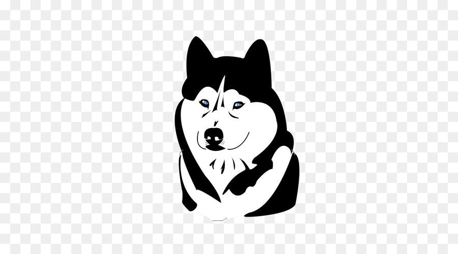 Husky siberiano raza de Perro Bigotes imágenes prediseñadas Vector ...