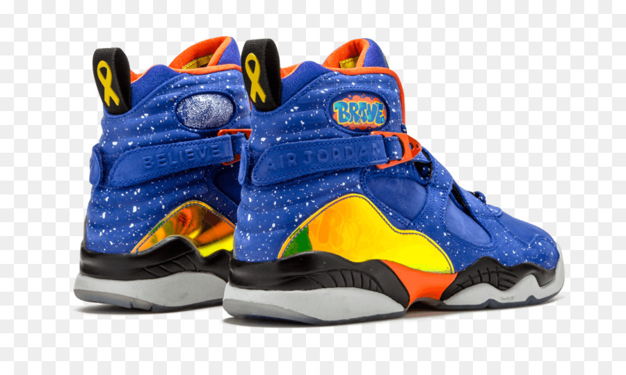 98768ff8861f67 Air Jordan 8 Retro Db  Doernbecher Mens 729893-480 Sneakers Air Jordan 8  Retro Db Shoes Hyper Blue    Electro Orange 729894 480 - nike png download  ...