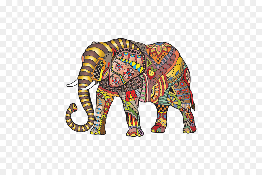 Elefante indio elefante Africano libro para Colorear, Dibujo de ...