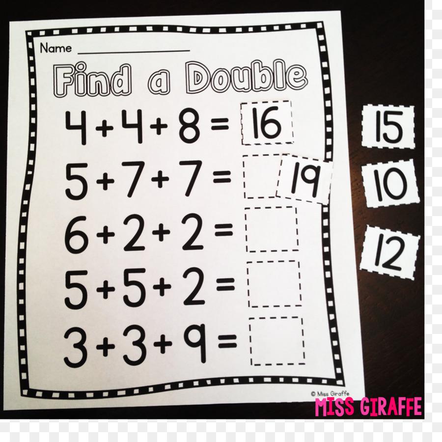 Die erste Klasse Mathematik Addition Anzahl Papier - Mathematik png ...