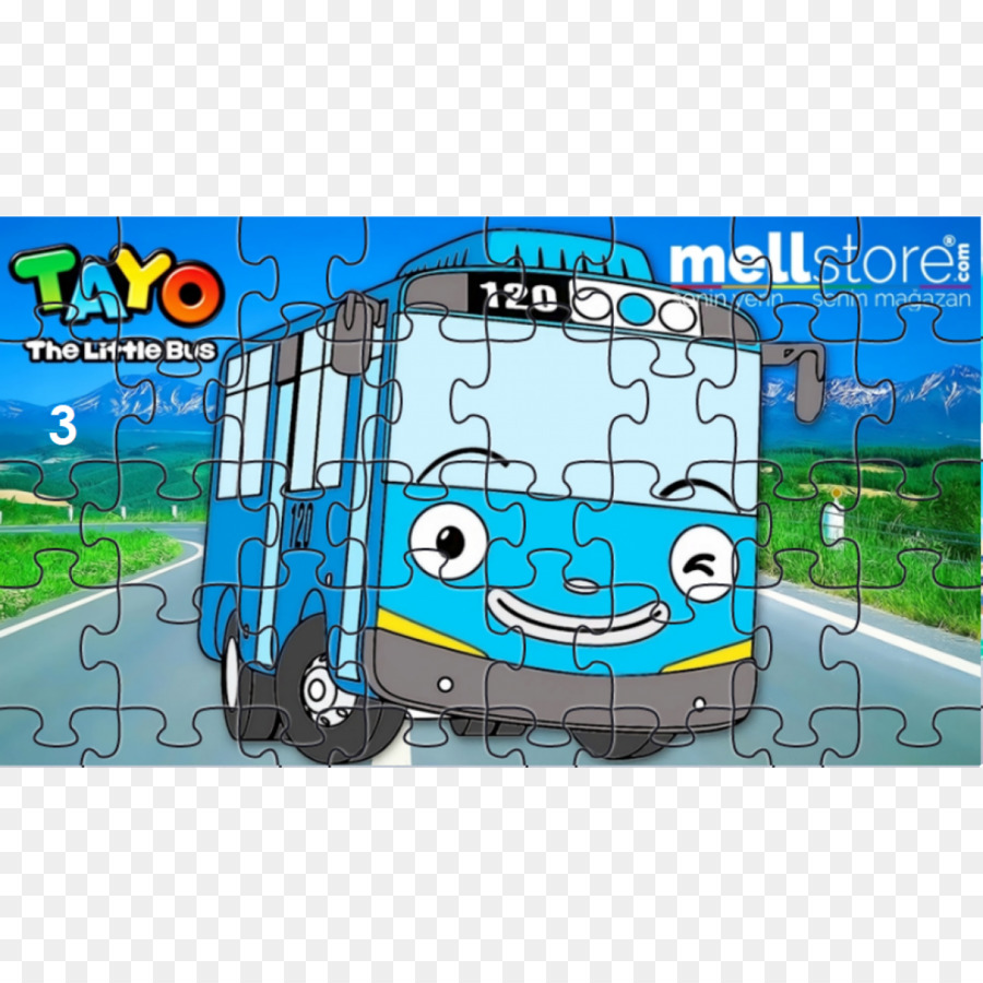jigsaw puzzles toy transport bus vehicle tayo little bus png