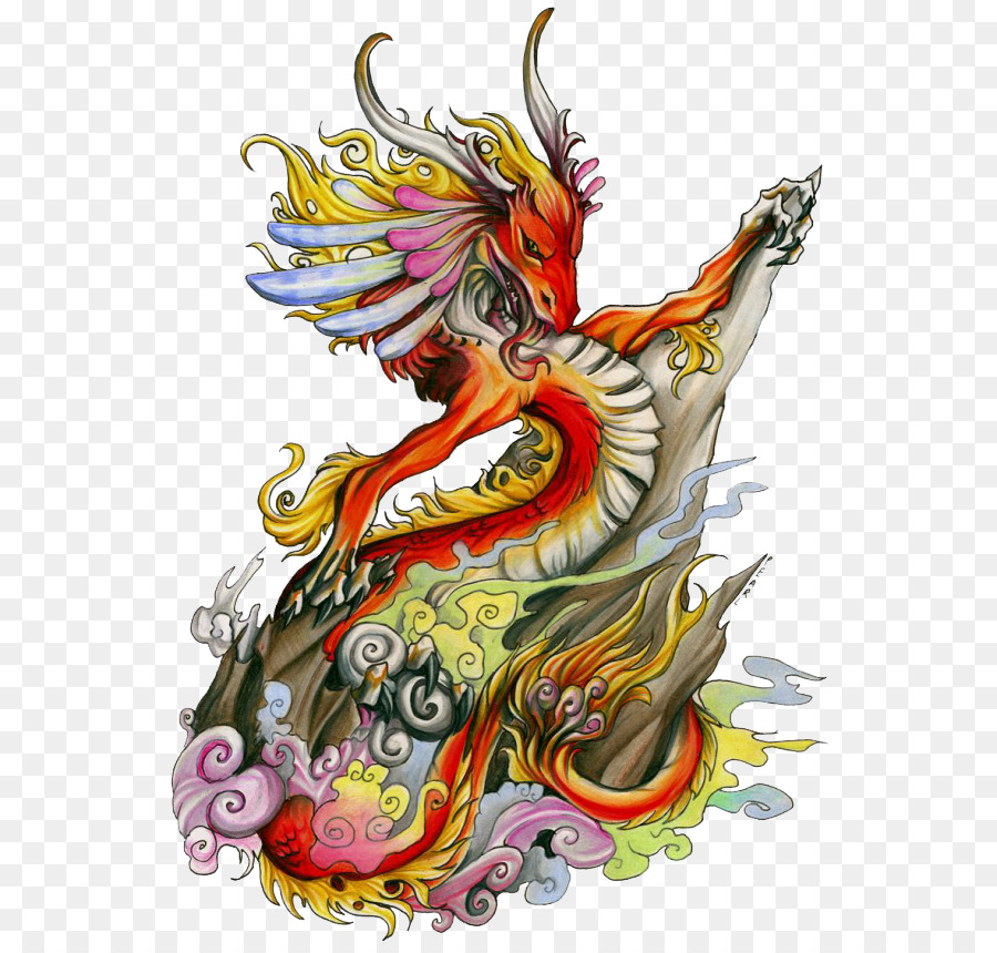 Tattoo Chinese dragon Color Design - dragon png download - 600*855 ...