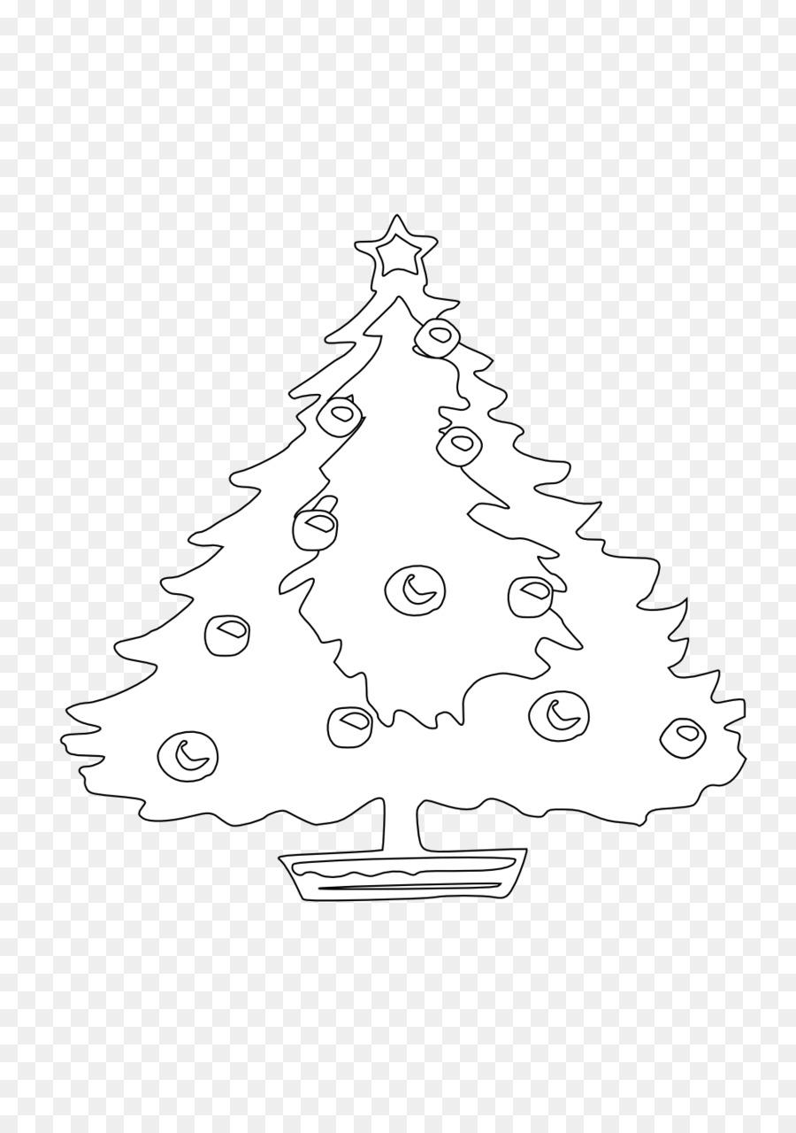 Árbol de navidad adornos de Navidad el Día de Navidad para Colorear ...