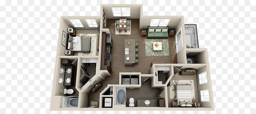 3d Grundriss Wohnung Haus Planen Wohnung Png Herunterladen 800