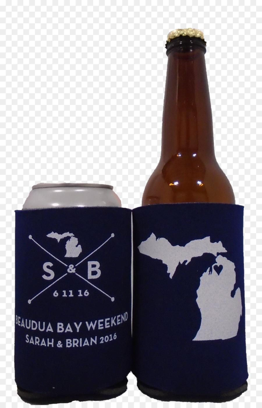 Koozie Beer Bottle Cooler Michigan Theme Wedding Png Download