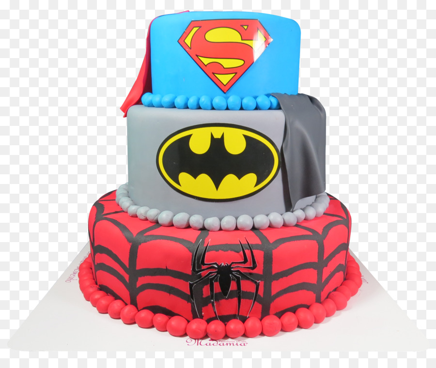 Birthday Cake Batman Superman Spider Man Spiderman Cake Png