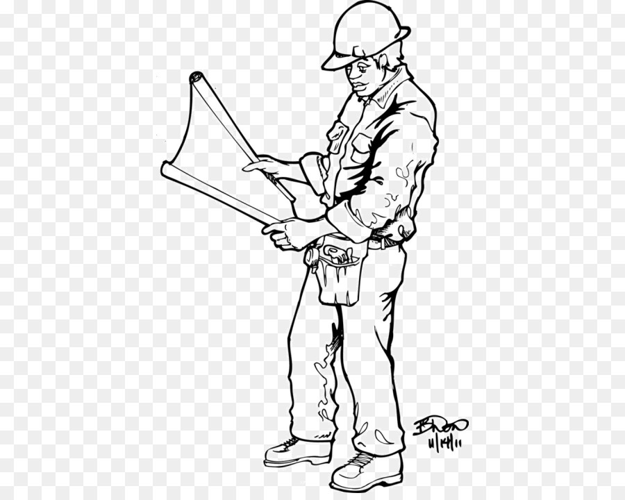 Coloring book Construction worker Colouring Pages Laborer ...