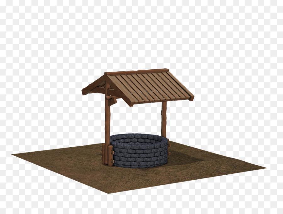 Holz Brunnen An Der Iupui Dach Garten Wasser Wasser Png