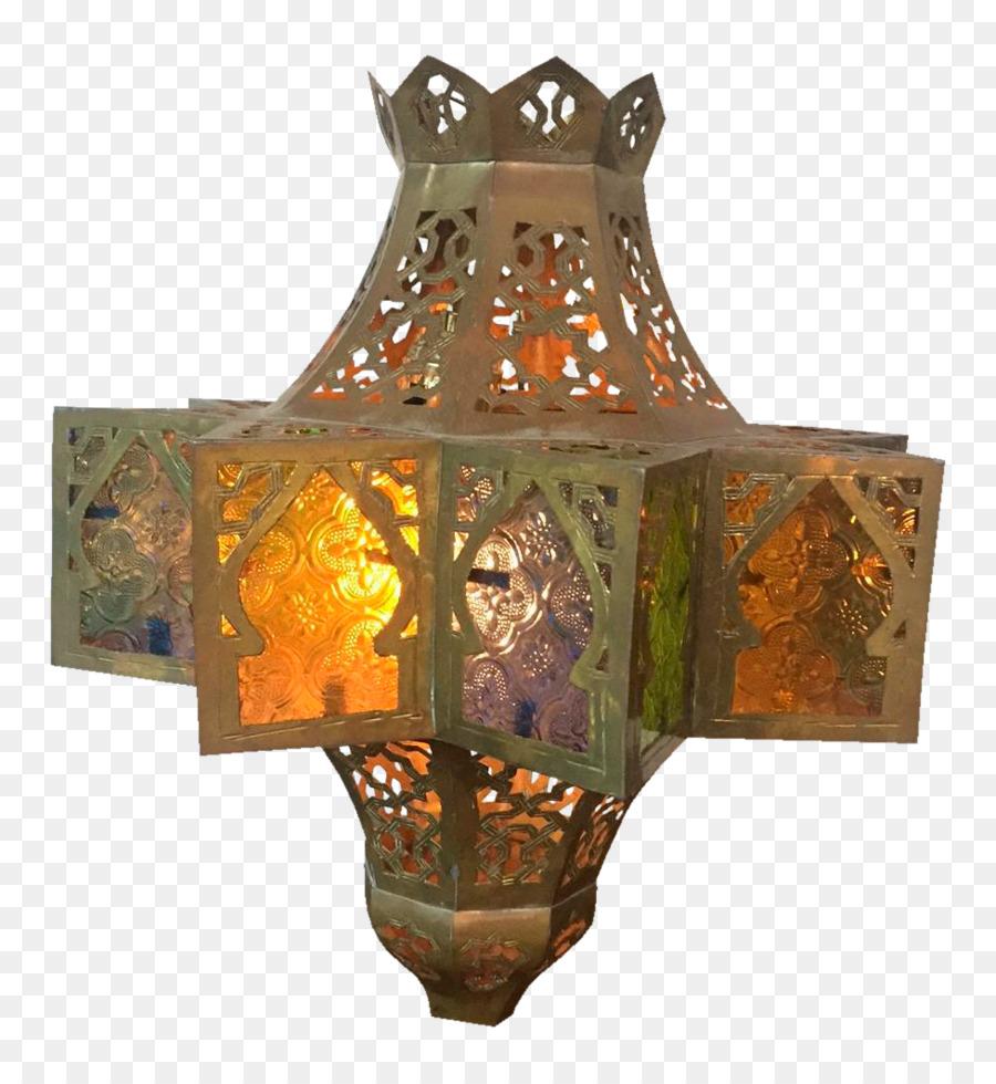 Light fixture Pendant light Lantern Lighting - brass lamp png ...