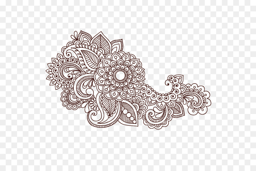 Colouring Pages Paisley Designs Coloring Book Mehndi Mandala Henna