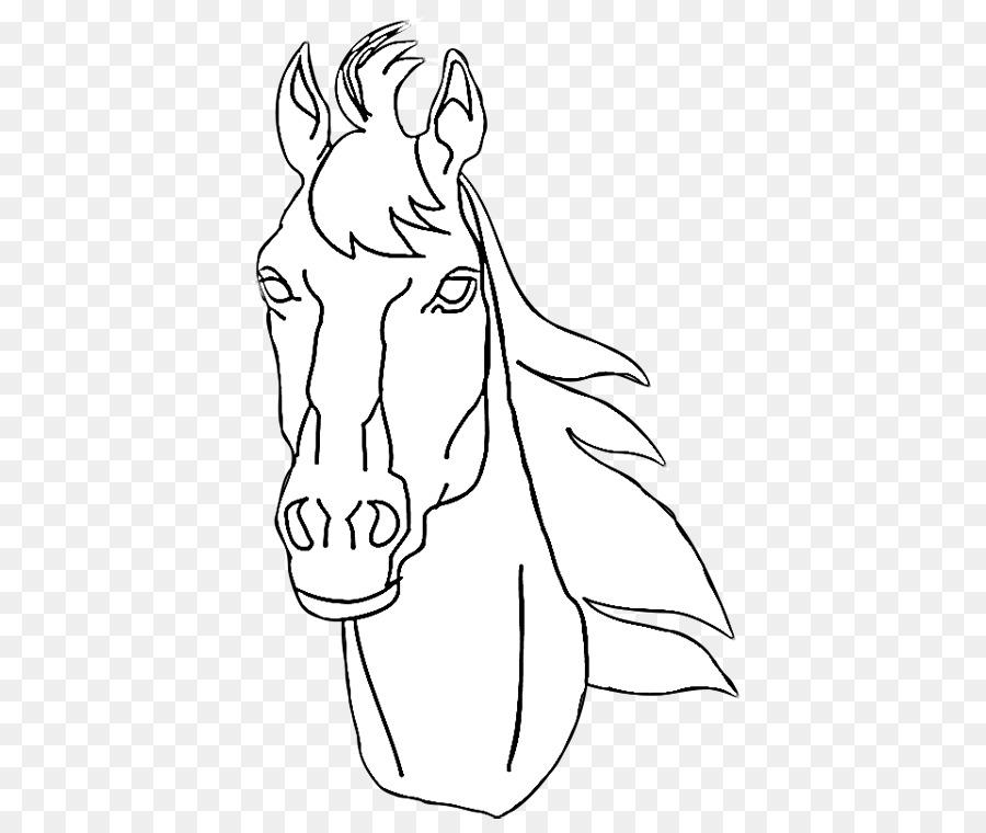Pony American Quarter Horse Horses & Ponies Coloring book Horse head ...