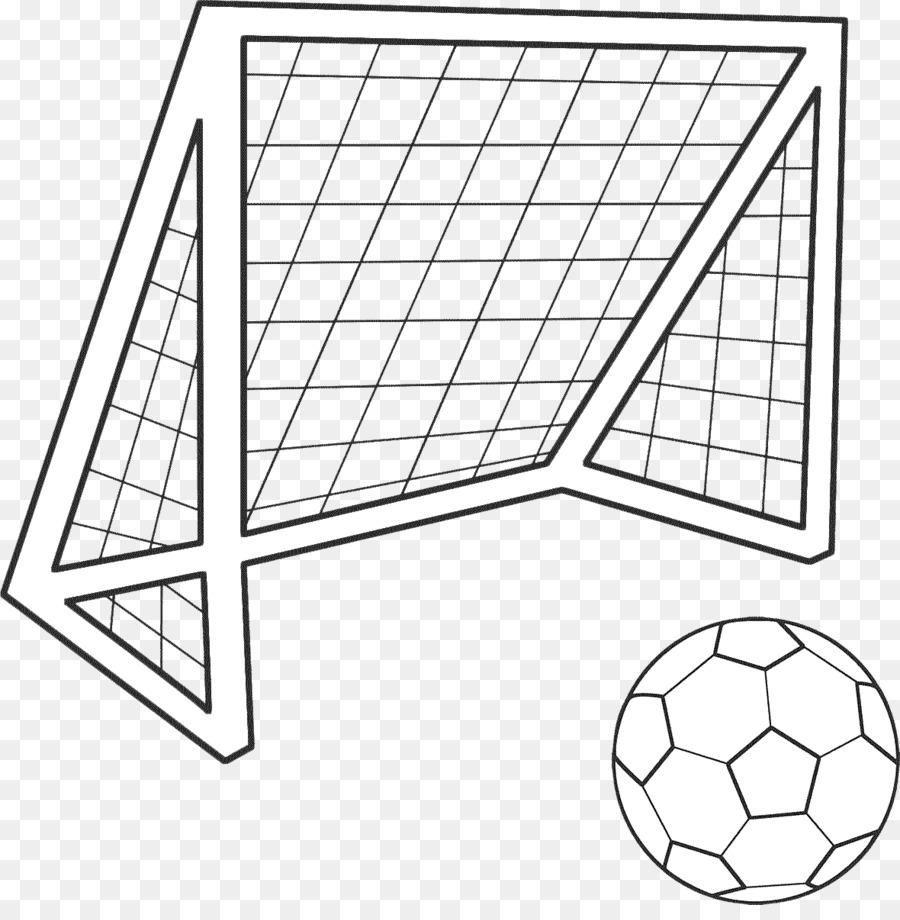 Goal Coloring book Football Colouring Pages - football png download ...
