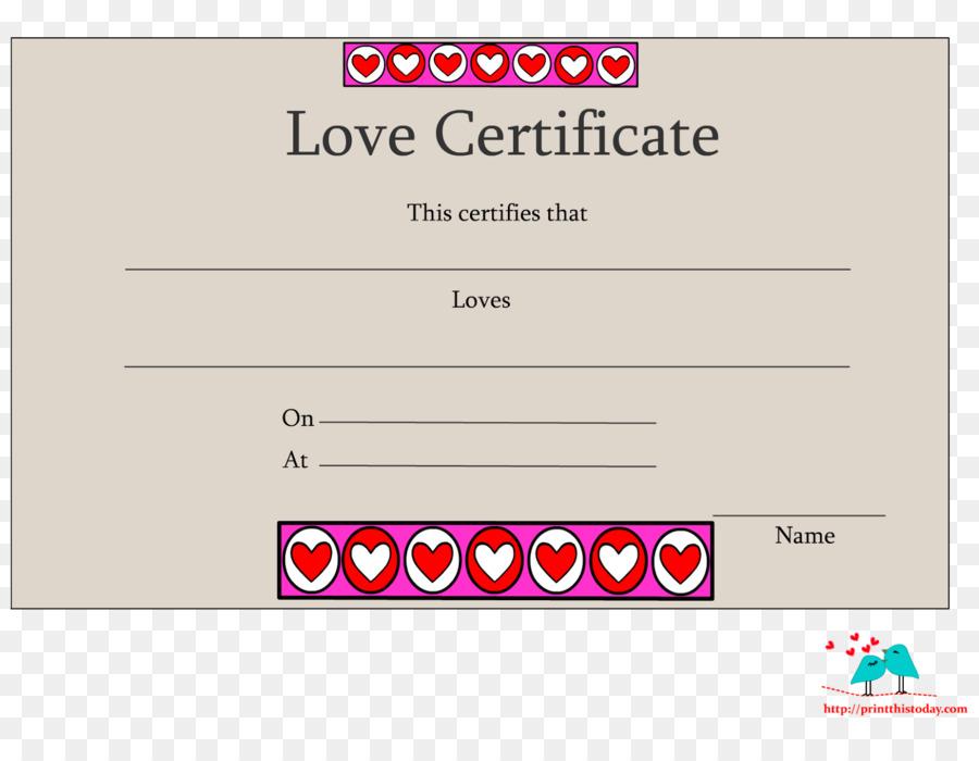 Template Love Romance Academic Certificate