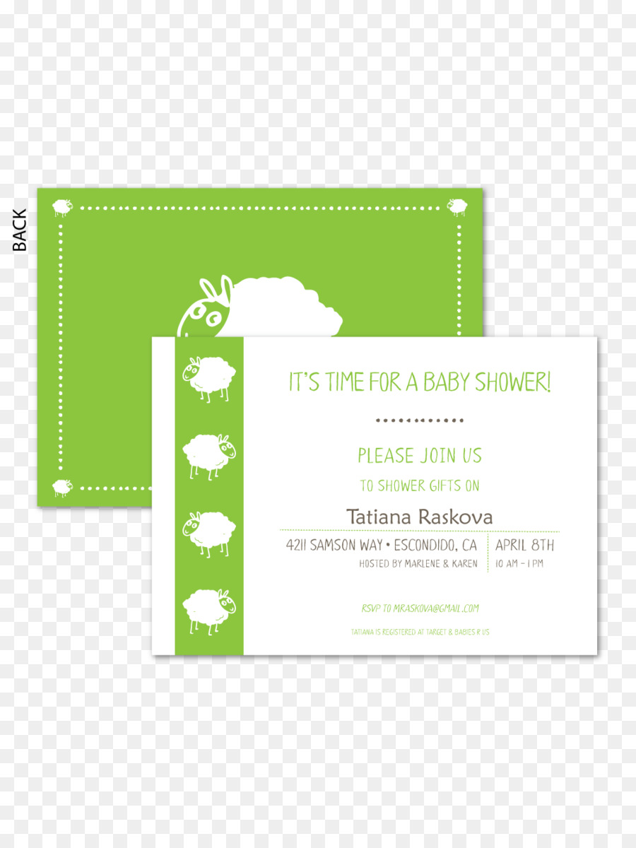 Wedding invitation Paper Green Baby shower - wedding png download ...