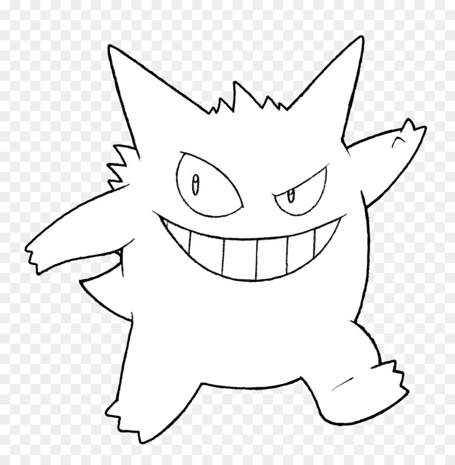 Ash Ketchum Gengar libro para Colorear, Dibujo de Pokemon - gimnasio ...