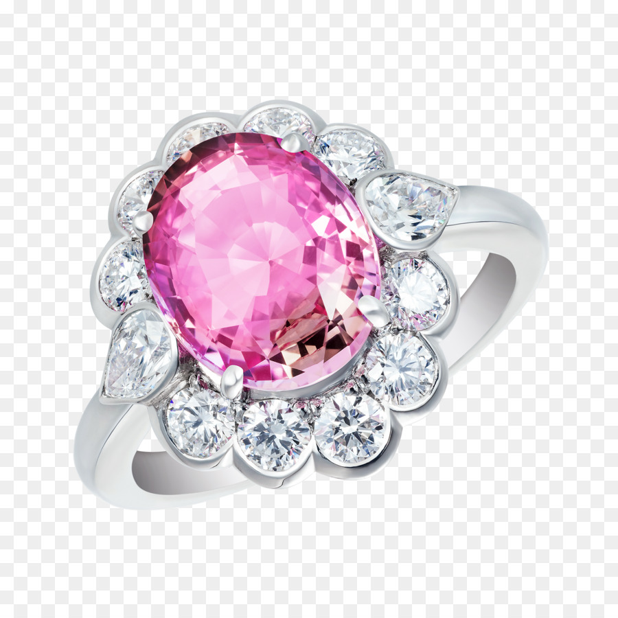 Sapphire Engagement ring Ruby Padparadscha - sapphire png download ...