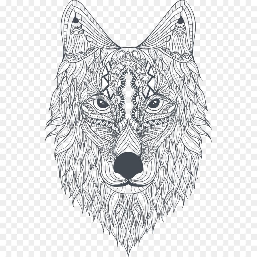 Zoo Tiere Malbuch Grau Wolf Erstaunliche Tiere Malbuch Mandala