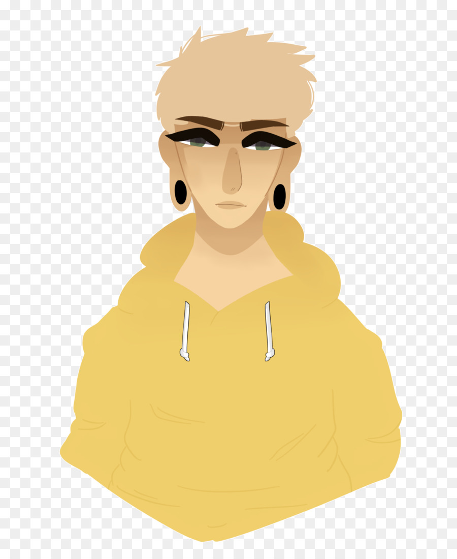 Hidung Ilustrasi Kartun Pipi Manusia Sinar Matahari Kuning