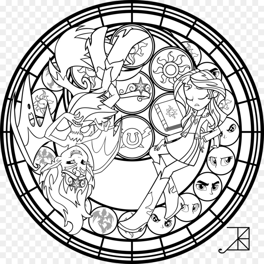 Sunset Shimmer Coloring book Stained glass My Little Pony: Equestria ...
